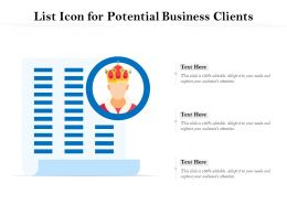 List Icon For Potential Business Clients