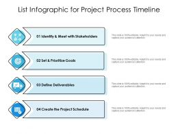 List Infographic For Project Process Timeline
