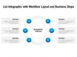 List Infographic With For Workflow Layout And Business Steps