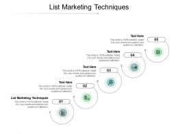 List Marketing Techniques Ppt Powerpoint Presentation Icon Format Cpb