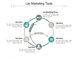 List Marketing Tools Ppt Powerpoint Presentation Portfolio Layouts Cpb