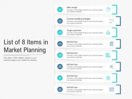 List Of 8 Items In Market Planning