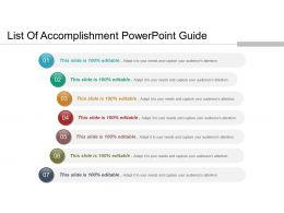 List Of Accomplishment Powerpoint Guide