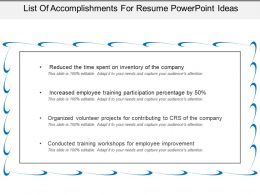 List Of Accomplishments For Resume Powerpoint Ideas