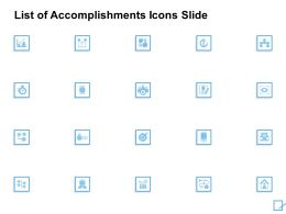 List Of Accomplishments Icons Slide Vision Ppt Powerpoint Slides
