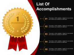 List Of Accomplishments Powerpoint Graphics