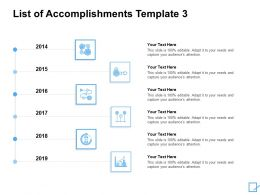 List Of Accomplishments Template Gears Ppt Powerpoint Presentation Slides