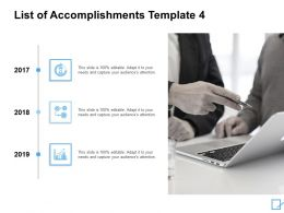 List Of Accomplishments Template Technology Ppt Powerpoint Slides