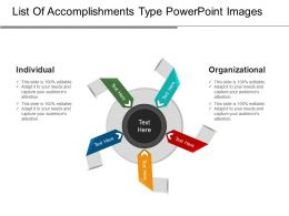 List Of Accomplishments Type Powerpoint Images