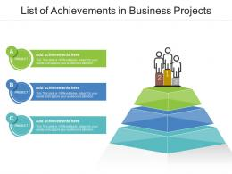 List Of Achievements In Business Projects