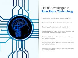 List Of Advantages In Blue Brain Technology