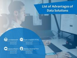List Of Advantages Of Data Solutions