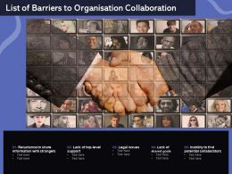 List Of Barriers To Organisation Collaboration