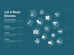 List Of Blood Diseases Ppt Powerpoint Presentation File Visuals