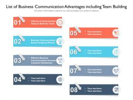 List Of Business Communication Advantages Including Team Building