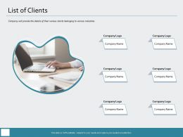 List Of Clients Company Logo Ppt Powerpoint Presentation Inspiration Format Ideas