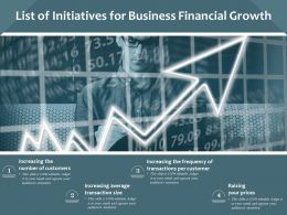 List Of Initiatives For Business Financial Growth
