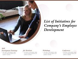 List Of Initiatives For Companys Employee Development