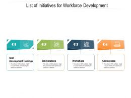 List Of Initiatives For Workforce Development