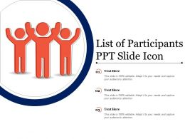 List Of Participants Ppt Slide Icons