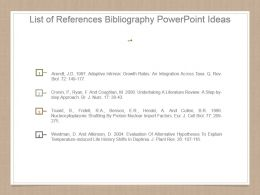 List Of References Bibliography Powerpoint Ideas