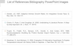 List Of References Bibliography Powerpoint Images