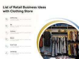 List Of Retail Business Ideas With Clothing Store