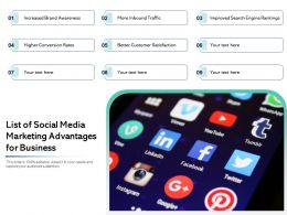 List Of Social Media Marketing Advantages For Business