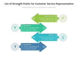 List Of Strength Points For Customer Service Representative