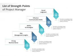 List Of Strength Points Of Project Manager