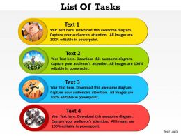 List Of Tasks colorful 21