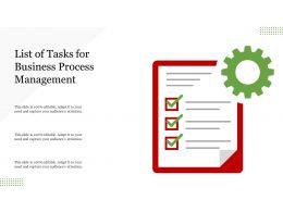 List Of Tasks For Business Process Management