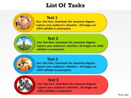 list of tasks with photos by the side powerpoint diagram templates graphics 712