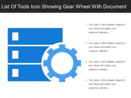 List Of Tools Icon Showing Gear Wheel With Document