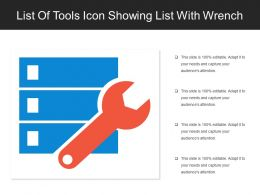 List Of Tools Icon Showing List With Wrench
