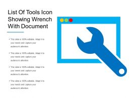 List Of Tools Icon Showing Wrench With Document