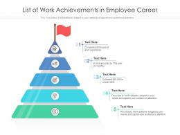 List Of Work Achievements In Employee Career