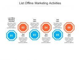 List Offline Marketing Activities Ppt Powerpoint Presentation Icon Grid Cpb