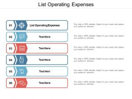 List Operating Expenses Ppt Powerpoint Presentation Infographic Template Graphics Cpb