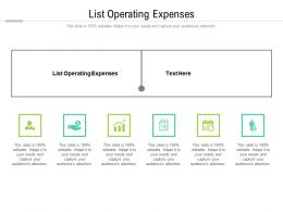 List Operating Expenses Ppt Powerpoint Presentation Professional Microsoft Cpb