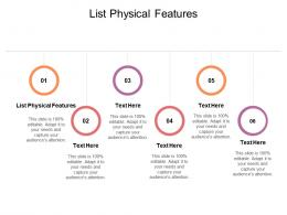 List Physical Features Ppt Powerpoint Presentation Professional Design Ideas Cpb