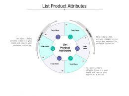 List Product Attributes Ppt Powerpoint Presentation Portfolio Example File Cpb