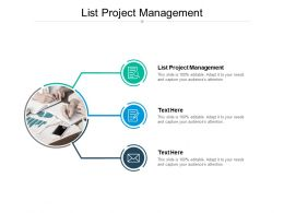 List Project Management Ppt Powerpoint Presentation Gallery Cpb