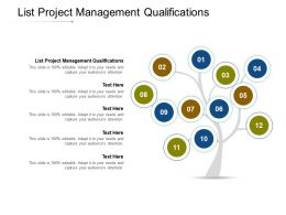 List Project Management Qualifications Ppt Powerpoint Presentation Summary Format Cpb