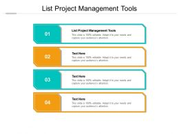 List Project Management Tools Ppt Powerpoint Presentation Ideas Topics Cpb