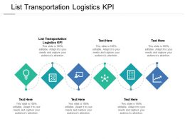 List Transportation Logistics KPI Ppt Powerpoint Presentation Show Outfit Cpb