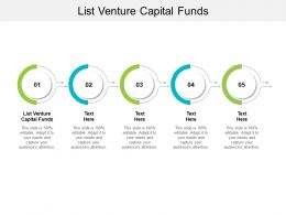 List Venture Capital Funds Ppt Powerpoint Presentation Show Example Cpb