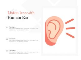 Listen Icon With Human Ear