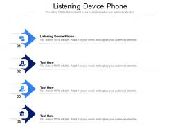 Listening Device Phone Ppt Powerpoint Presentation Show Cpb