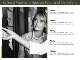 Listing 5 Priorities Of Business Facts And Conditions
